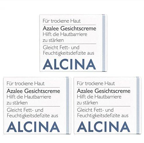 3er T Azalee Gesichtscreme Pflegende Kosmetik Alcina hilft die Hautbarriere zu stärken je 50 ml =...