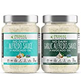 Primal Kitchen No Dairy Alfredo Sauce 2 Pack, Plant Based and Vegan Friendly - 1 Traditional & 1 Garlic