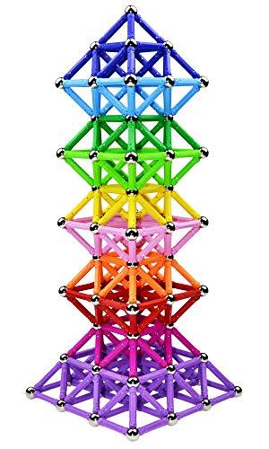 Veatree 206 Pcs Magnetic Building Sticks Blocks Toys, Magnet Educational Toys STEM Toys for Kids and...