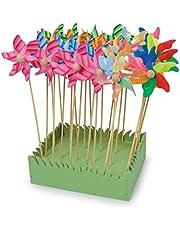 Legler 6149 windwielen in 24-delige set, mooie tuindecoratie in bloembakken en perken