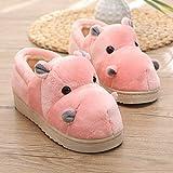 WXDP Pantoufles Chaudes,en Coton en Coton, en Coton en Peluche, en Coton Dessin animé Mignon Hippopotame, en Coton à la Maison Parent-Enfant, 3 Couleurs