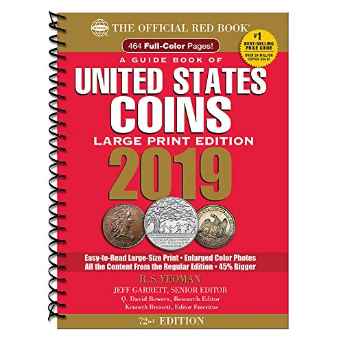 2019 Official Red Book of United States Coins – Large Print Edition (Guide Book of United States Coins)