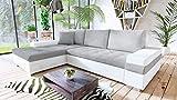 Mirjan24 Design Ecksofa Bangkok Mini, Moderne Eckcouch mit Schlaffunktion und Bettkasten, Ecksofa für Wohnzimmer, Gästezimmer, Couch L-Form, Wohnlandschaft, (Soft 017 + Bristol 2460) - 3