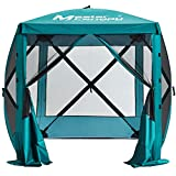 MASTERCANOPY Escape Shelter, 4-Sided Canopy Portable Pop up Canopy Durable Screen Tent Bug and Rain Protection (3-4 Persons), (72''x72'', Emerald Green)