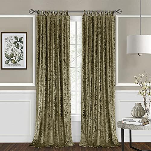 1 Pc of Harper Criss-Cross Window Curtain Panel - 50x84 Moss