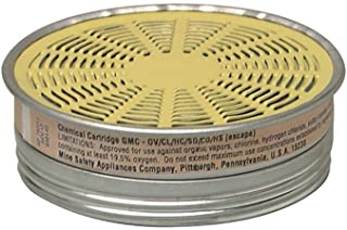 MSA 464046 Organic Vapors/Chlorine/Sulfur Dioxide/Chlorine Dioxide/Hydrogen Chloride/Hydrogen Sulfide (Escape Only) GMC Chemical and Combination APR Cartridge For Comfo Respirators (10/EA)