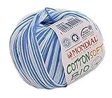 Bio Baumwolle zum Stricken & Häkeln Lane Mondial Cotton Soft Bio Wolle Farbe 931, 100% Organic Cotton, Sommerwolle Baby, Babywolle Bio