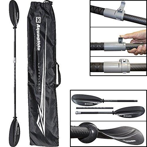 Aquaglide Kayak Vario Superlight Paddle - Kajak Paddel/Längenverstellbar 200cm - 230cm