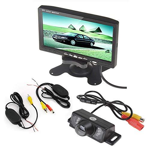 Boomboost 7 Pouces TFT LCD Moniteur d'écran Couleur + 18mm Couleur avec caméra de Vue arrière + kit de récepteur d'émetteur sans Fil