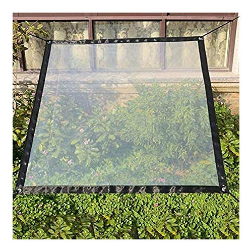 AGLZWY Waterproof Tarpaulin, PVC Dust-proof Rainproof Sheet Greenhouse Cover Anti-aging Tarp With Eyelet, 24 Sizes (Color : Clear, Size : 6x10m)