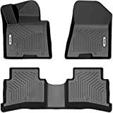 OEDRO Floor Mats Compatible with 2017-2021 Kia Sportage / 2019-2021 Hyundai Tucson, Unique Black TPE All-Weather Guard, Includes 1st and 2nd Row, Full Set Liners
