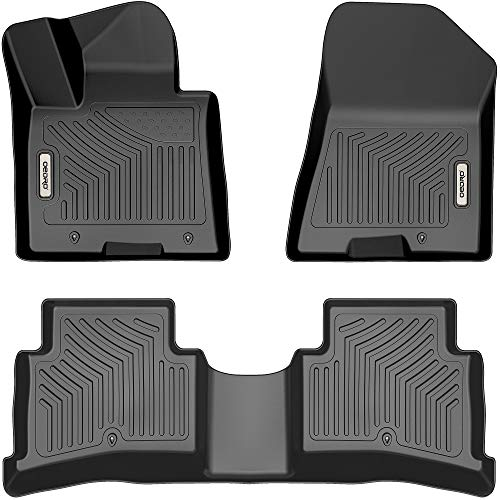 OEDRO Floor Mats Compatible with 2017-2022 Kia Sportage / 2019-2021 Hyundai Tucson, Unique Black TPE All-Weather Guard, Includes 1st and 2nd Row, Full Set Liners