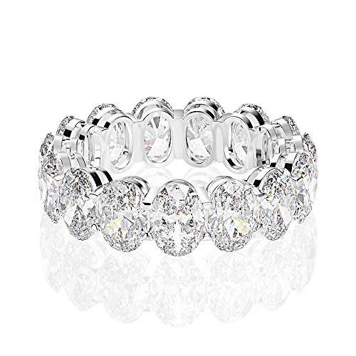Mossan Stone Ring Simulatie Diamanten Ring Vrouw Een Karaat Van Pure Zilver Ring 13e 1 caraat sneeuwvlok