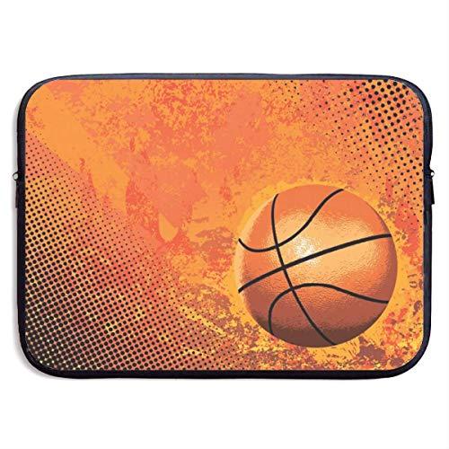 Funda Impermeable para portátil de 15 Pulgadas, maletín de Negocios con Estampado de Baloncesto de Fuego, Bolsa Protectora, Funda para Ordenador BAG-4678