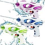 3 Stück wasserpistolen Set wassergewehr für Erwachsene Kinder Water Gun Water Blaster wasserpistole Spielzeug wasserpistole für Garten und Strand Grüne Blaue und lila Wasserpistolen (taikong)