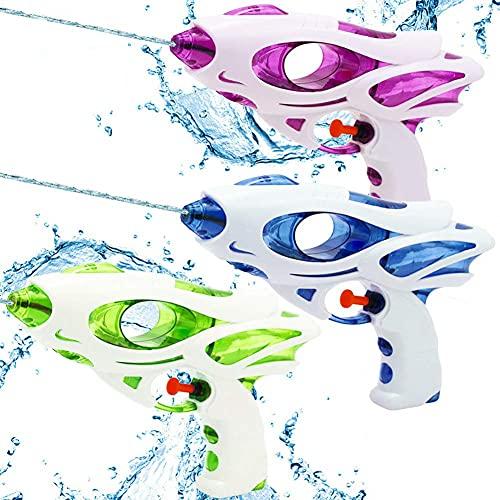 taikong, set di 3 pistole ad acqua per adulti e bambini, pistola ad acqua giocattolo per giardino e spiaggia, verde, blu e viola