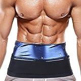 Waist Trimmer for Men Weight Loss Slimming Waist Trainer Belly Fat Burner Waist Belt for Men Loss Belly Fat (Large)
