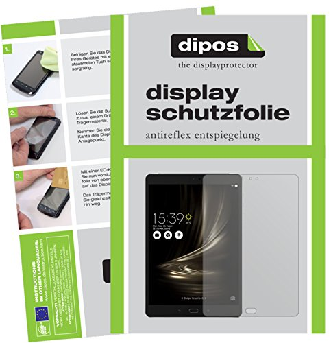 dipos I 2X Schutzfolie matt kompatibel mit Asus ZenPad 3S 10 LTE (2017 / Z500KL) Folie Bildschirmschutzfolie