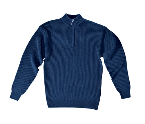 Sir Safety 34508 - Pullover con collo a cerniera 60 Blu