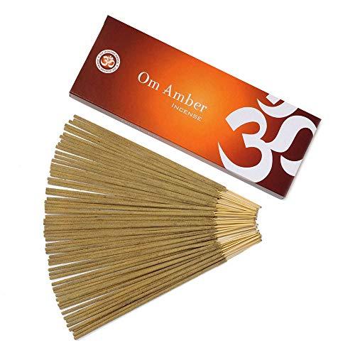 Om Amber Masala Incienso Sticks – Om Amber Incense Sticks - caja de 100 gramos - Sabiduría - Amor...