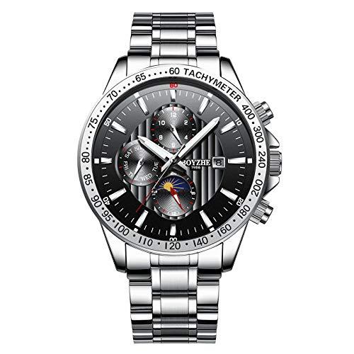 Reloj de Pulsera Minimalista Reloj automático para Hombre Reloj de Movimiento mecánico -C