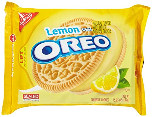 Oreo Sandwich Cookies - Lemon Creme - 15.25 Ounces