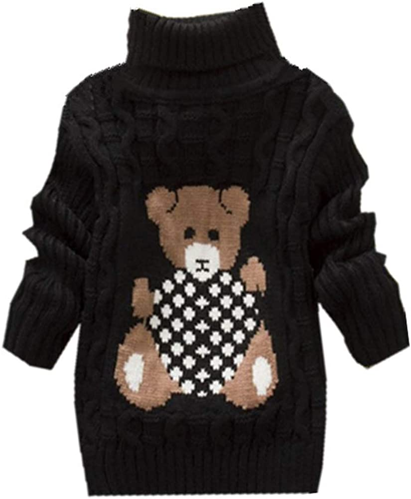 IEUUMLER Knitted Sweater Autumn//Winter Baby Long Sleeve with High Collar Warm Sweater Clothes IE001