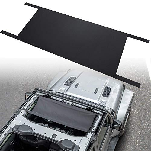 Bosmutus autodakhangmat voor J-eep Wrangler YJ, TJ, JK & JKU JL 1987-2020 4/2-deur, waterdicht autobed Rest hangmat (zwart)