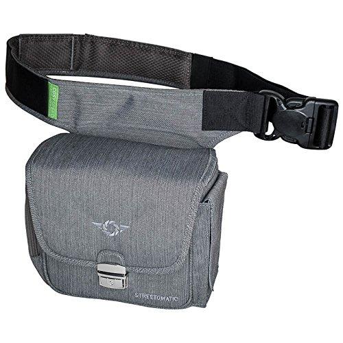 Cosy Speed Cámara Bolsa con cinturón de cadera camslinger streetomatic fotográfico funda para cámaras de sistema compacto de/+ lente adicional Paris Grey