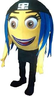Jailbreak Emoji Movie Mascot Costume Party Character Halloween Cosplay Adult Size Yellow