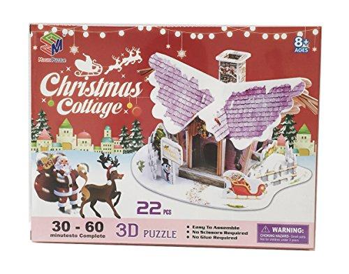 ドールハウス 3D Craft model クリスマス・コテージ2
