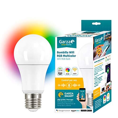 Garza Bombilla LED wifi RGB Alexa, 9 W, Multicolor, 70 X 135 Mm