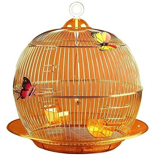 LKNJLL Bird Travel Carrier Cage,Creative Metal Birdcage Parrot Pearl Bird Canary Ornamental Birdcage Birdcage