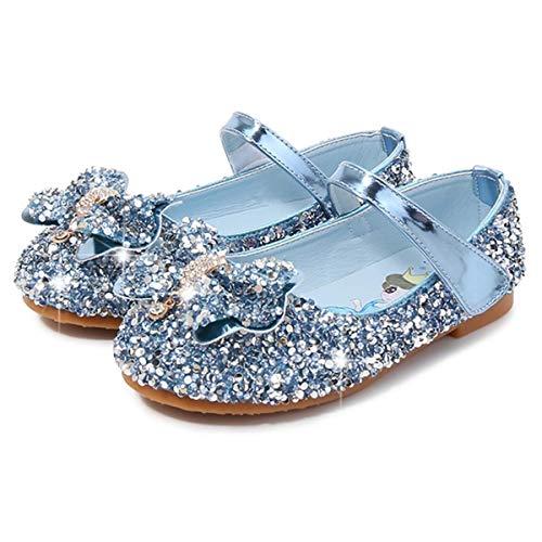 AIYIMEI Disfraz Princesa Zapatos Elsa Zapatos de Lentejuelas Antideslizante Niñas Zapatos de...