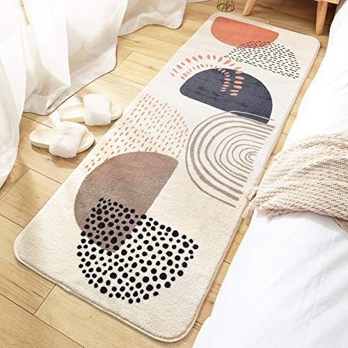 ラグ キッチンマット カーペット ラグマット おしゃれ 洗える 低反発 夏 冬 絨毯 長方形 北欧 キッチン 玄関,60x160cm