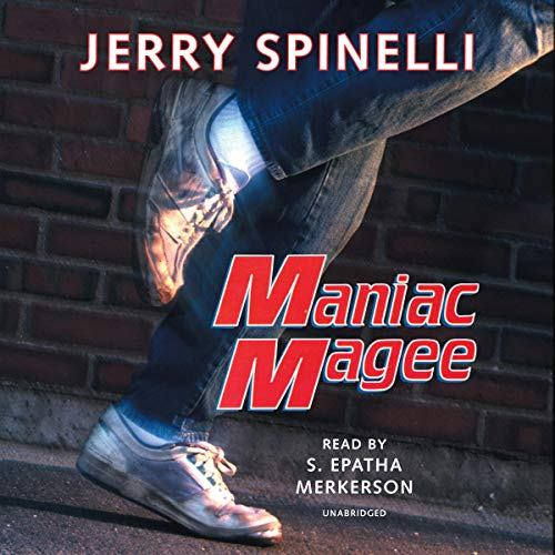 Maniac Magee audiobook cover art