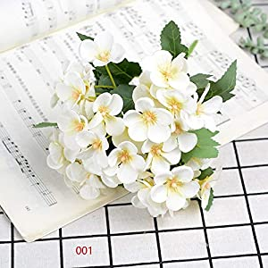 Artificial and Dried Flower 1pcs 5 Forks Pink Silk Begonia Flowers Artificial Flowers Home Decoration Wedding Fake Flower Artificial Flowers Long 25cm