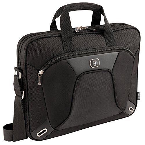 Wenger 600644 ADMINISTRATOR 15.4' MacBook Pro Slimcase , Padded laptop compartment with iPad/Tablet / eReader Pocket in Black {7 Litres}