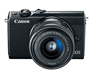 Canon EOS M100 Mirrorless Camera w/ 15-45mm Lens - Wi-Fi, Bluetooth, and NFC enabled (Black) (B074VQ7L1Y) | Amazon price tracker / tracking, Amazon price history charts, Amazon price watches, Amazon price drop alerts