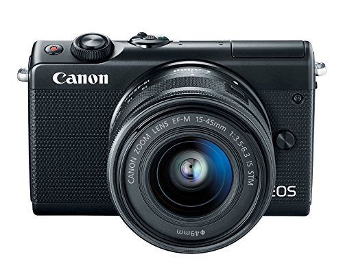 Canon EOS M100 Mirrorless Camera w/ 15-45mm Lens -...