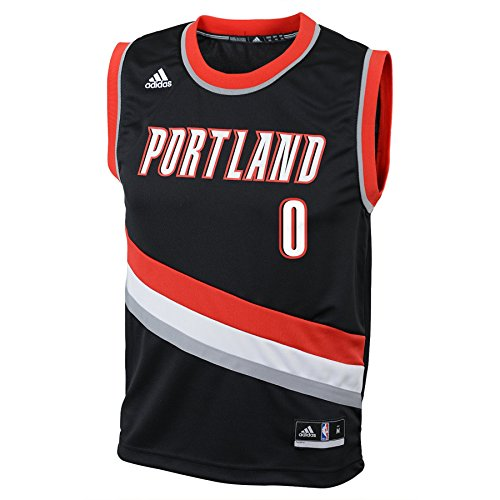 NBA Toddler Portland Trail Blazers Lillard Away Replica Jersey-Black-4T