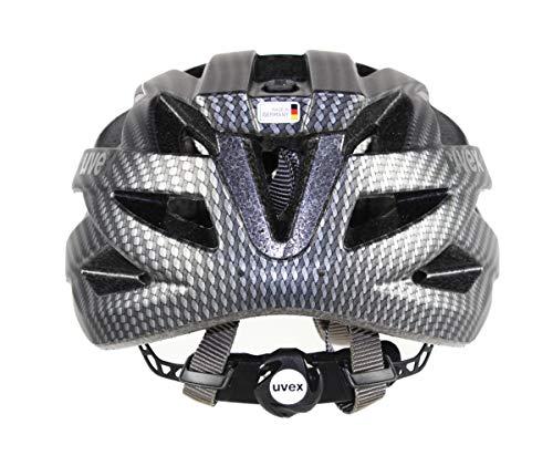 Uvex Erwachsene I-VO CC Fahrradhelm, Black Carbon Look Mat, 52-57 cm - 3