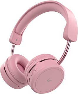 KitSound Metro X Wireless Bluetooth On-Ear Headphones with Track Controls, Mic and Call Handling - Pink