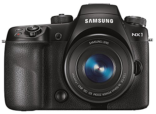 Samsung NX1 Systemkamera (Full HD Video, 4K Video, 28,2 Megapixel, 16-50 mm ED OIS Power Zoom Objektiv) schwarz