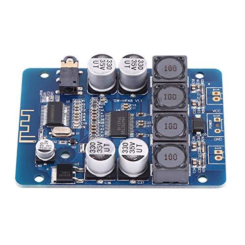 CHICIRIS Placa de Amplificador Digital, 30W + 30W 8V ~ 26V 4ohm 6ohm 8ohm 3.5mm Módulo de Amplificador de Potencia de Audio de Doble Canal DC de Alta sobrecarga para Altavoz Bluetooth