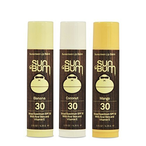 Sun Bum SPF30 Lip Balm Banana, Coconut, Mango 3 Pack by Sun Bu
