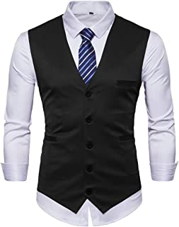 GRMO Men Stylish Slim Fit Single-Breasted Formal Blazer Waistcoat