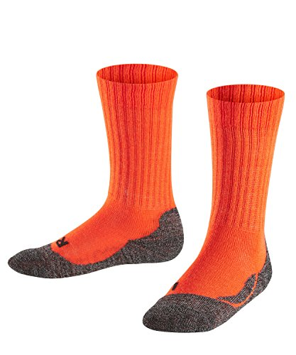 Falke Unisex Kinder Socken, Active Warm K SO -10450, neon red, 19-22