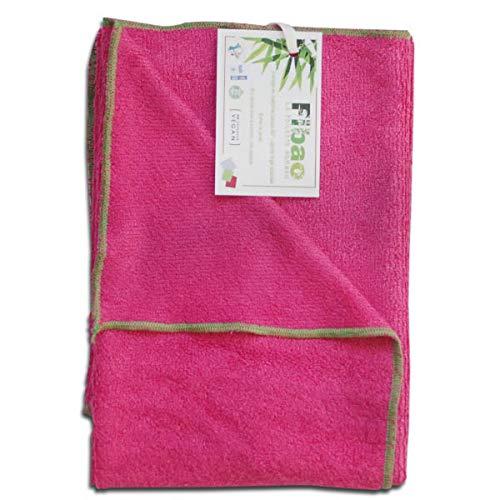 Drap de bain bambou (fuchsia) ultra absorbant et compact - FIBAO