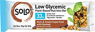 SoLo Nuts and Seeds Superfood Nutrition Bar - Gluten Free, Low Glycemic with 10 grams of Protein, 1.41oz (40g) (1 Box of 6 Bars)